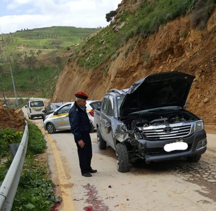 وفاة حسين سالم: جرش .. وفاة سائق دراجة على طريق سيل برما (صور)